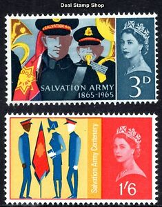 1965 Salvation Army Centenary SG665 - 666 Ordinary Complete Set Unmounted Mint