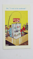 1950s Risque Comic Postcard Knickers Stockings Perfume Bottle Fishing Rod Reel
