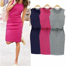 Short Sleeveless Cocktail Evening Party Summer Dress Fashion Women Casual Mini