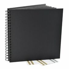 Black Guest Book Photo Booth Album Spiral Scrapbook Wedding 40 Sheets