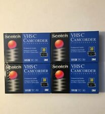 ⭐️ 4 New SCOTCH Professional Quality TC-30 Camcorder Video Cassette Tapes 3M
