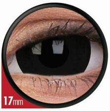 MINI SCLERA TITAN BLACK paire lentille de couleur noir contact lens 17mm big eye