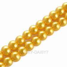 100Pcs Colourful GLASS PEARL Round BEADS - Choose 4mm, 6mm, 8mm, 10mm & 12mm UK