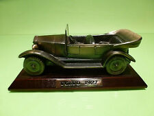 VOLVO PV4 1927 IN BRONZE ON WOODEN  COASTER  - RARE SELTEN - GOOD CONDITION