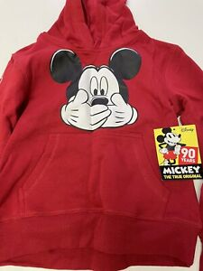 Mickey Mouse Hoodie Pullover Sweatshirt Youth boys girl XS 4/5
