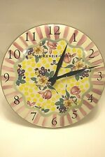 Mackenzie-Childs, Buttercup, Enamel Wall clock, retired pattern!, Guc