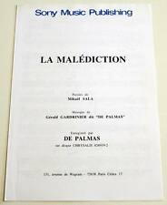 Partition sheet music GERALD DE PALMAS : La Malédiction * 90's