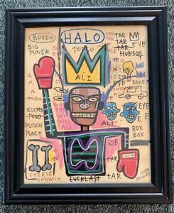 Jean Michel Basquiat Muhammad Ali Drawing Original King Samo Rare Vintage