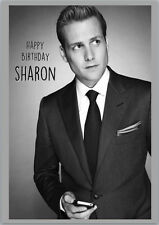 Harvey Specter Suits Gabriel Macht Birthday Card A5 Personalised with own words