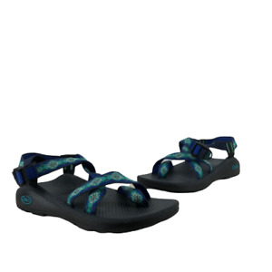 Chaco Womens Z / Cloud 2 Z/2 Strappy Strap Sandals Water Shoes Blue Green 9