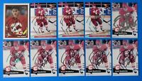 LOT OF 10 PAUL RANHEIM SIGNED HOCKEY CARDS ~ O-PEE-CHEE ~ 100% GUARANTEE