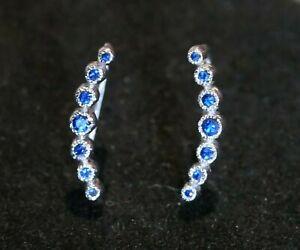 BONY LEVY Bezel Set Blue Sapphire Earrings **RARE**