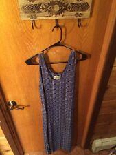 Women's Flax By Jeanne Engelhart Boho Hippie Dress, Blue/ Green, Long, Medium