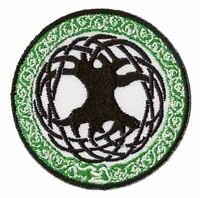Patch écusson patche Arbre de vie celte thermocollant custom celtique tree life