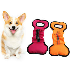 Durable Pet Dog Toys Chewers Interactive  Bone Shape  Pull Chew Toy  Canvas l