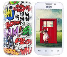 Hülle f LG L40 D160 Schutz Case Cover Tasche Bumper Silikon TPU Comic Crash Boom