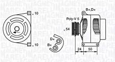 Generator 12V Für FIAT ABARTH LANCIA 500 C Doblo Grande Punto Idea Evo 51787196