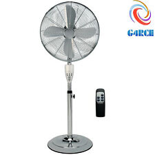 "16"" ELECTRIC OSCILLATING PEDESTAL AIR COOLING FAN WITH REMOTE CONTROL STANDING"