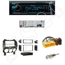 KENWOOD kdc-300uv radio + MAZDA 2 (de) Mascherina con scomparto nero + Adattatore ISO Set