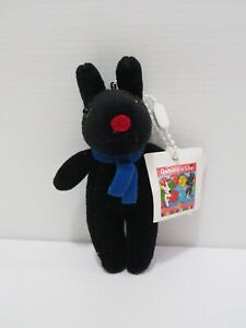 """Gaspard et Lisa Black Dog Mascot Keychain 4.5"""" TAG Garden Plush Stuffed Toy Doll"""