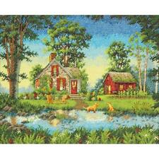 """Dimensions Gold Collection Counted Cross Stitch Kit Summer Cottage 11"""" X 14"""" NEW"""