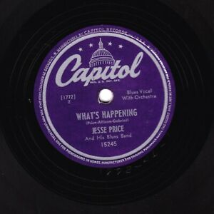 JESSE PRICE BLUES BAND 78 WHAT'S HAPPENING / MISTREATED US CAPITOL 15245 E-