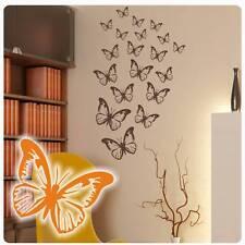 Schmetterlinge Butterfly Wandtattoo Wandaufkleber Tattoo Küche Kaffee Kind W027