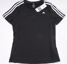 Adidas Ladies Climalite Black Sports T-shirt Running Top - Medium - Stay Dry New