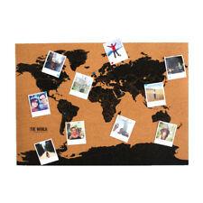 Corkboard Gift Republic Weltkarte Kork Pinnwand mit Pinnadeln