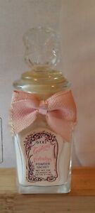Vintage Trailing Arbutus by Avon 1980's Powder Sachet Glass Jar with ribbon FULL