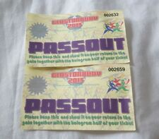 2013 GLASTONBURY FESTIVAL ORIGINAL VINTAGE PASSOUT PASS OUT TICKET **RARE**