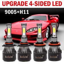 9005 + H11 Total 880W 98000LM LED Headlight Kit High & Low Light Bulbs 2019 New