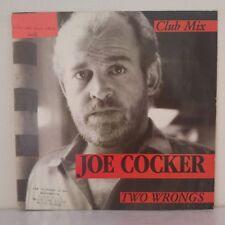 "Joe Cocker ‎– Two Wrongs (Club Mix) (Vinyl 12"" Maxi 45 Tours)"