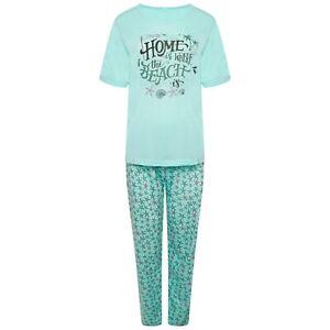 Ladies Short Sleeve Soft Jersey Cotton Pyjama Set Nightwear M ,L,XL,XXL