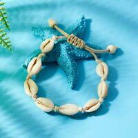 Cowrie Shell Bracelet Puka Seashell Boho Jewelry Surfer Beach Nautical Anklet