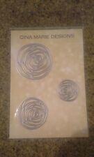 Gina Marie designs metal cutting dies - Rose knot set - Flowers roses