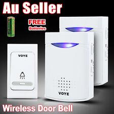 Wireless Door Bell Doorbell Set Digital Remote Control 2 Receivers 38 Chimes AU