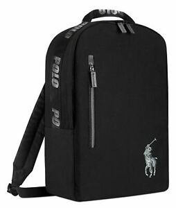 Ralph Lauren Polo Backpack Bookbag Black New With Tags