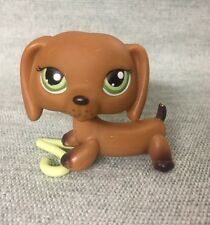 Littlest Pet Shop lot #139 Freckled Dachshund Dog w/ Bow (2)