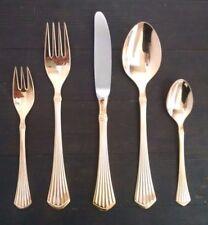 Bestecke Solingen Rostfrei 23 24 Gold Plate Flatware Spoons Forks Knife Ridges
