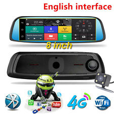 2017 Newest 8inch 4G Touch IPS Car DVR Camera Mirror GPS Bluetooth WIFI Android