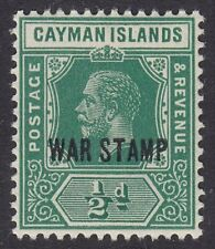 CAYMAN ISLANDS 1919 SG57 ½d GREEN WAR STAMP UNMOUNTED MINT