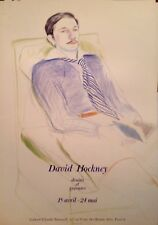 DAVID HOCKNEY ANCIENNE AFFICHE 1975 ORIGINAL POSTERGALERIE CLAUDE BERNARD / RARE
