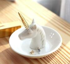 Unicorn Jewelry Ring Holder Dish Plate Rack Trinket Tray Dressing Table Decor