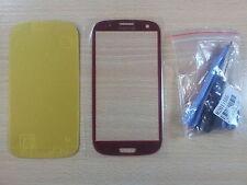 Cristal de Pantalla ROJA para Samsung Galaxy S3 I9300 +Adhesivo +Herramientas