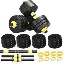 New listing GYM Adjustable Dumbbell Set 66 88 110lb Weight Barbell Plates Home Workout