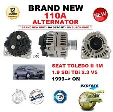FOR SEAT TOLEDO II 1M 1.9 SDi TDi 2.3 V5 1999-ON NEW 110A ALTERNATOR OE QUALITY