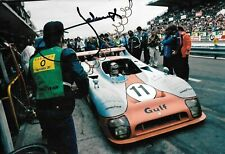 """Jacky Ickx SIGNED 12x8 , Gulf-Mirage GR8 , Le Mans 24hrs  """" Winner """"1975"""