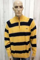LA MARTINA Taglia XL Maglione Uomo Lana Casual Logo Pull Pullover Man Sweater
