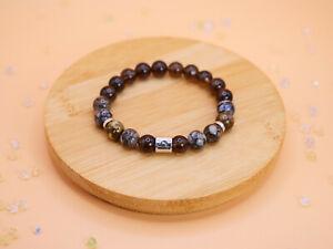 Libra Zodiac Smoky Quartz African Opal Bracelet Birthstone Gift